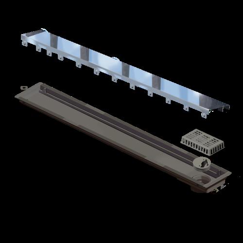 Ralo Linear Versatille Tampa Inox 75cm Elleve  - DOTEC SHOP