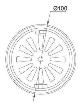 Ralo Rotativo Redondo Diametro 100mm - Franke 524