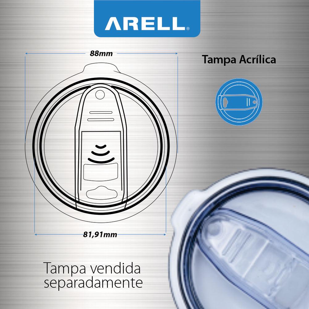 Tampa Acrílica Para Copo Térmico Arell  - DOTEC SHOP