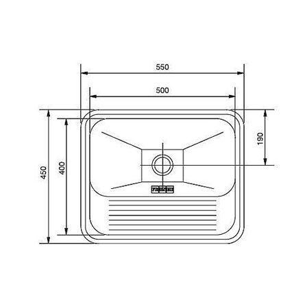 Tanque Inox Franke 50x40x22cm - 30 Litros Alto Brilho  - DOTEC SHOP