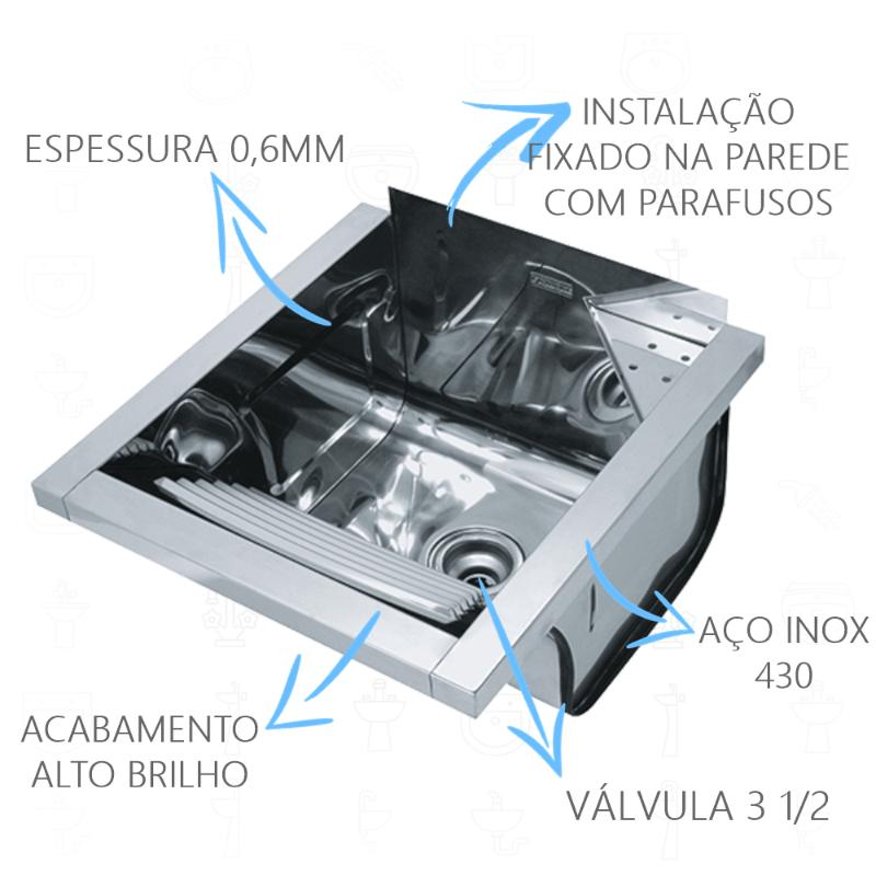 Tanque Inox Franke TS360 Fixacao  - DOTEC SHOP