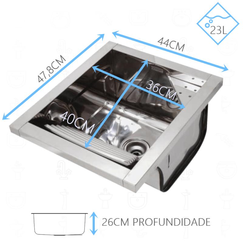 Tanque Inox Franke TS360 Sobrepor  - DOTEC SHOP