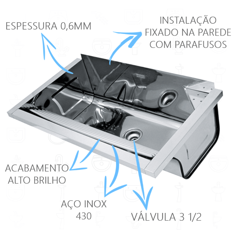 Tanque Inox Franke TS740 Fixacao  - DOTEC SHOP