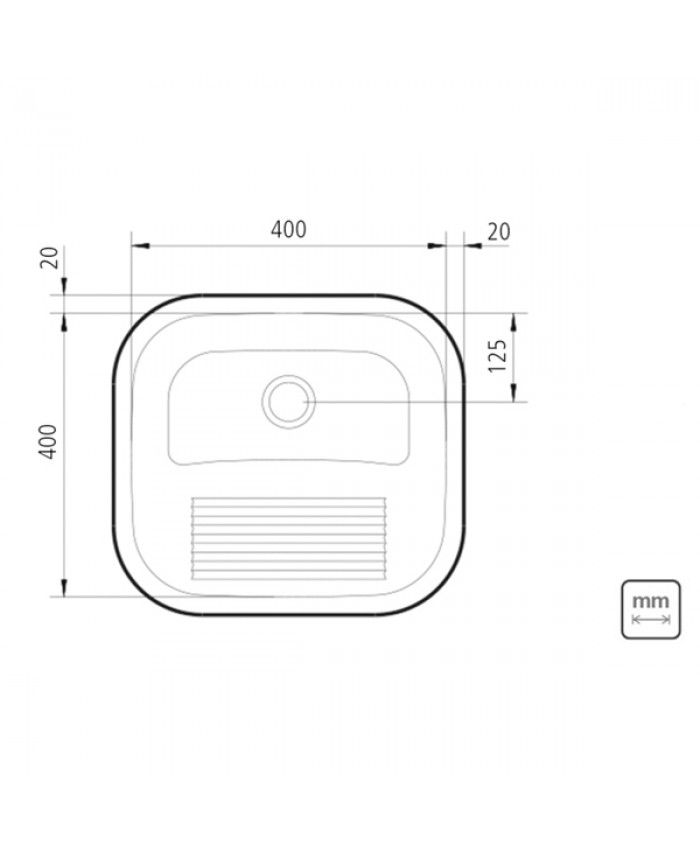 Tanque Inox Tramontina Alto Brilho 40x40x23cm - 94403/407  - DOTEC SHOP