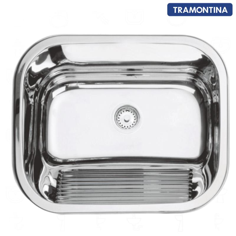 Tanque Inox Tramontina Alto Brilho 50x40x23cm - 94400/407  - DOTEC SHOP