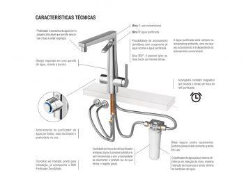 Torneira Cozinha Com Purificador Água Docol Vitalis Chrome  - DOTEC SHOP
