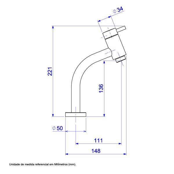 Torneira Estilo Link Bica Baixa  - DOTEC SHOP