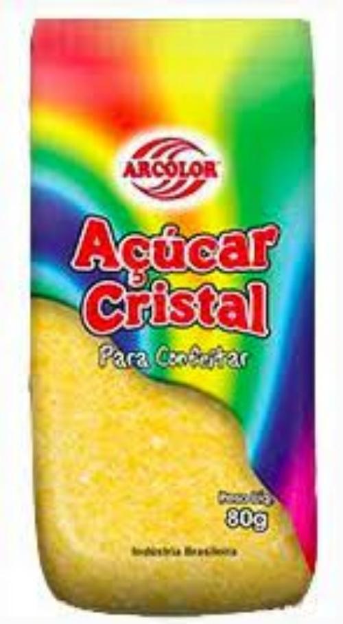 Açúcar Cristal-500G. Amarelo