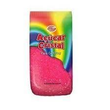 Açúcar Cristal -500G. Rosa