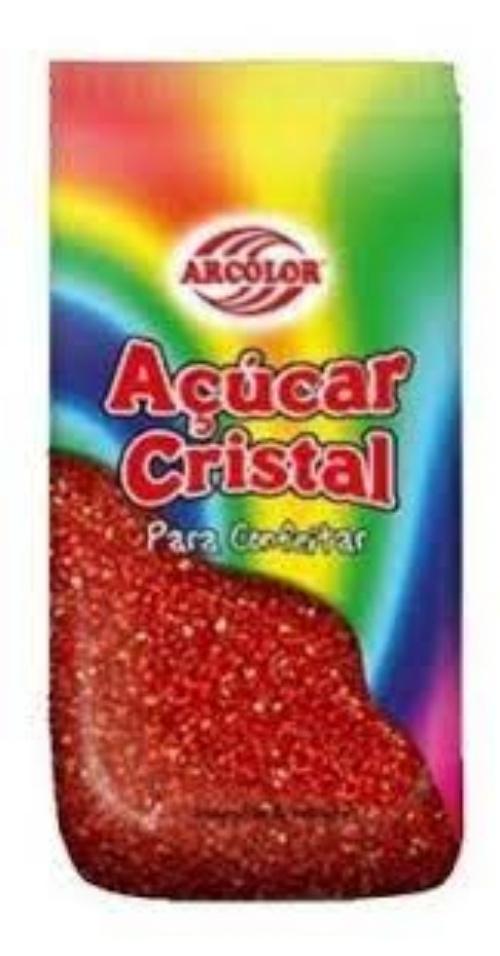 Açúcar Cristal -500G. Vermelho