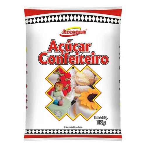 Açúcar de Confeiteiro 1kg ARCOPAN