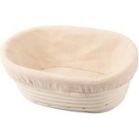 Banneton de rattan, oval, 21x15x8 cm com forro 650g