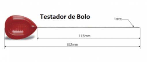 CB02N-003 / Testador de bolo 15,2 cm - aco inox