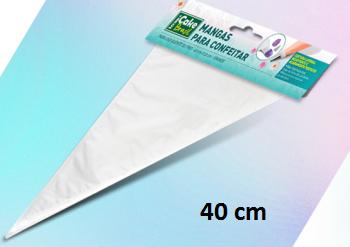 CB03-40.50 / Manga transparente 40x22 cm - 50 un - plastico