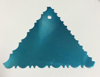 CB05-01 / Triangulo para decorar -1un- 11 cm x 11 cm - ALUMINIO ONDA