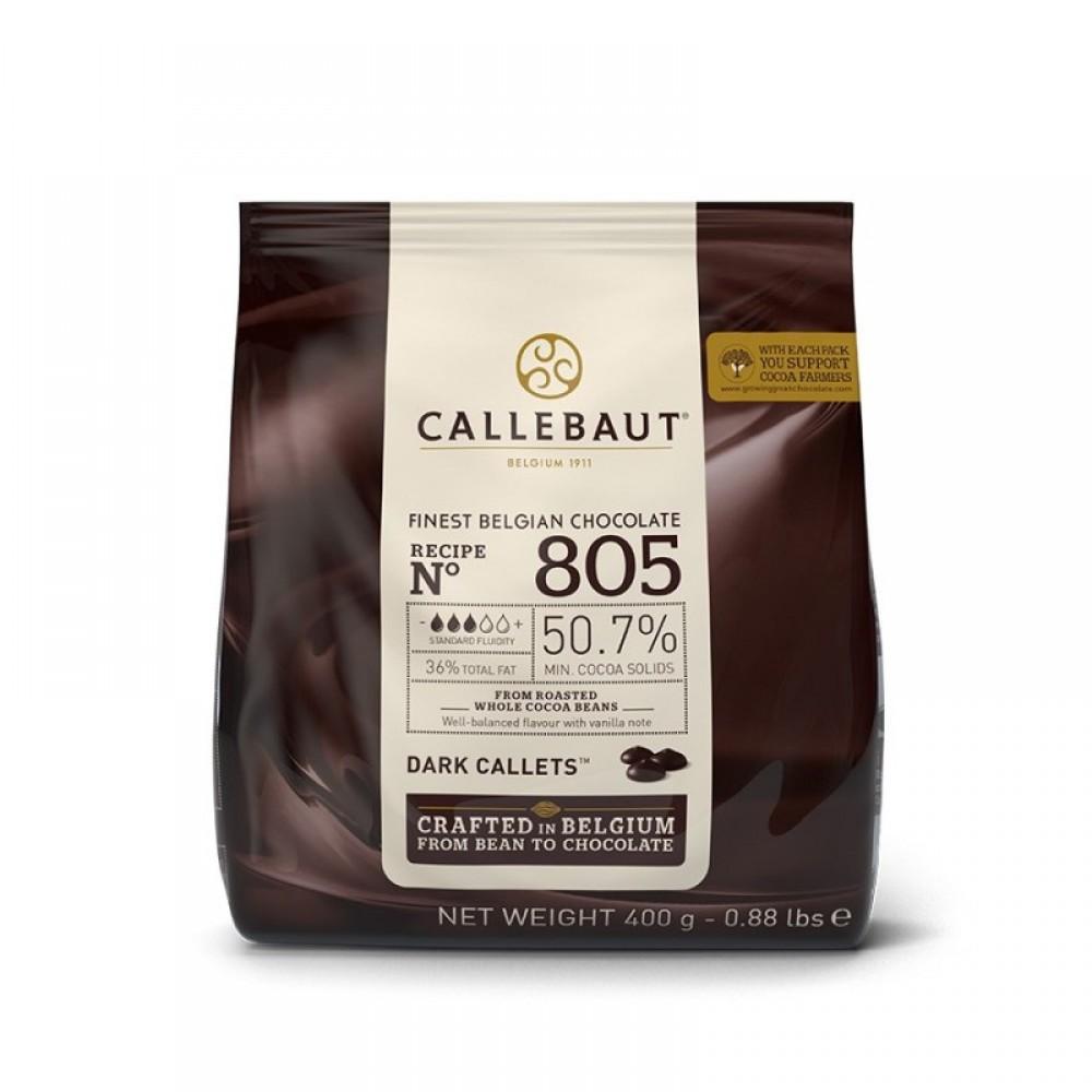 Chocolate amargo 50,7% 805 Callebaut Moedas 400g