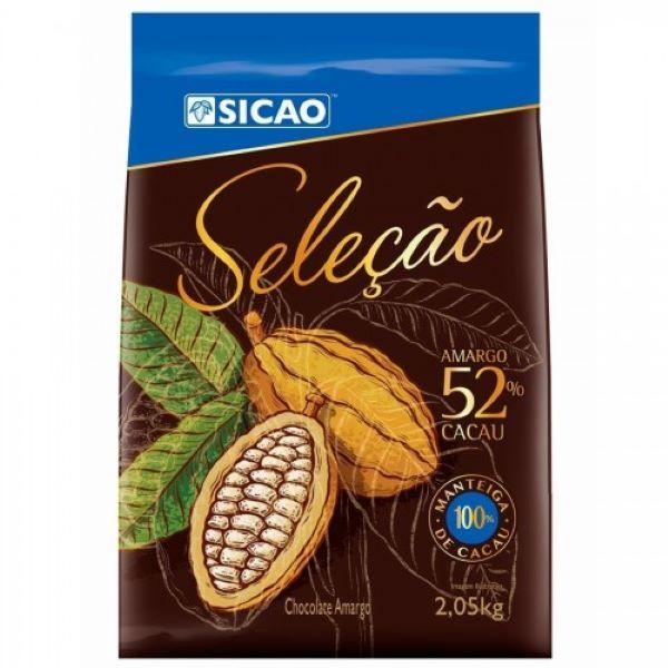 Chocolate amargo 52% Seleção Sicao fácil derretimento 2,05KG