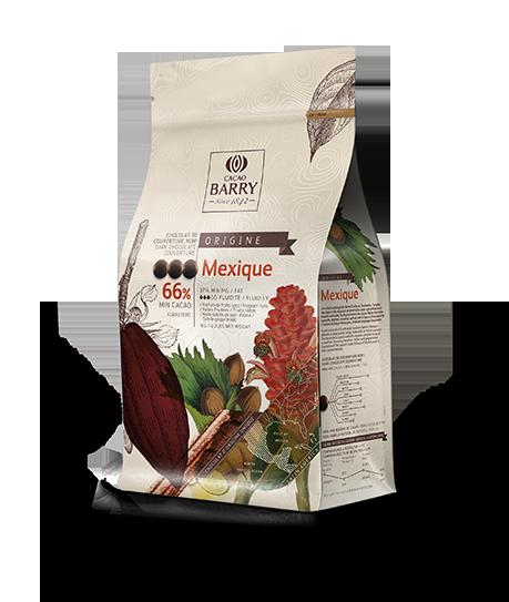 Chocolate amargo 66% Origens Mexico Cacao Barry Gotas 1KG