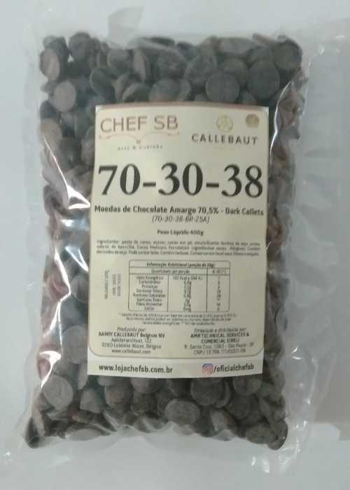 Chocolate amargo 70-30-38 Callebaut Callets 400g granel