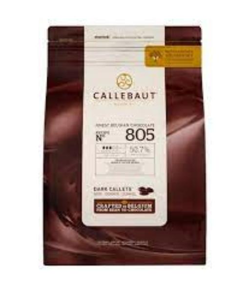 Chocolate amargo 805 50,7% Moedas 2,01kg  Callebaut