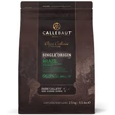 Chocolate amargo Brasil Origens 66,8% moedas Callebaut  2,5KG