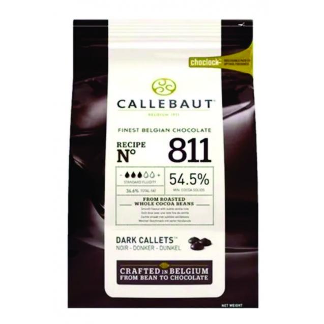 Chocolate amargo Callebaut Moedas 54,5% 811 2,01kg