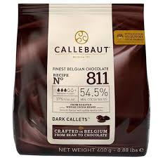 Chocolate amargo Callebaut Moedas 54,5% 811 400g