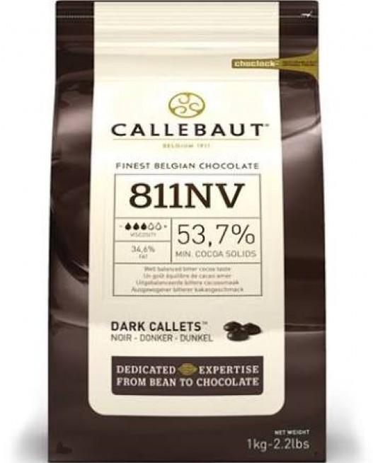 Chocolate amargo Callebaut Moedas 54,5% 811 1kg