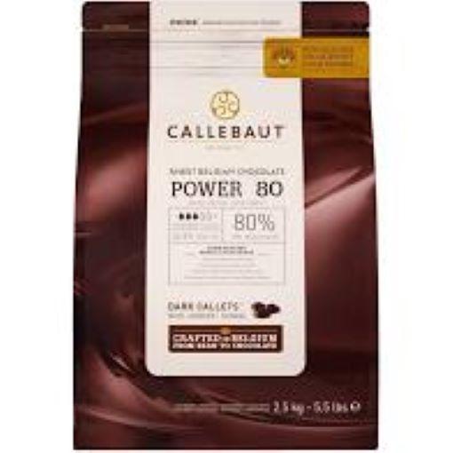 Chocolate amargo Power 80 (80% Cacau) 2,5kg  Callebaut