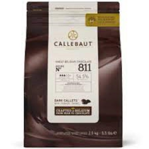 Chocolate amargoMoedas 54,5% 811 2,01kg  Callebaut