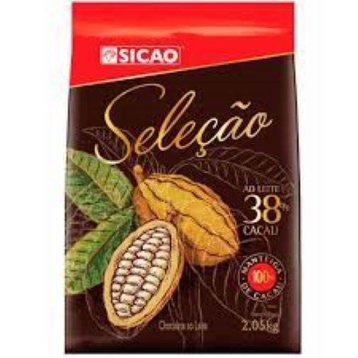 Chocolate ao leite 38% Seleção  2,05Kg  Sicao