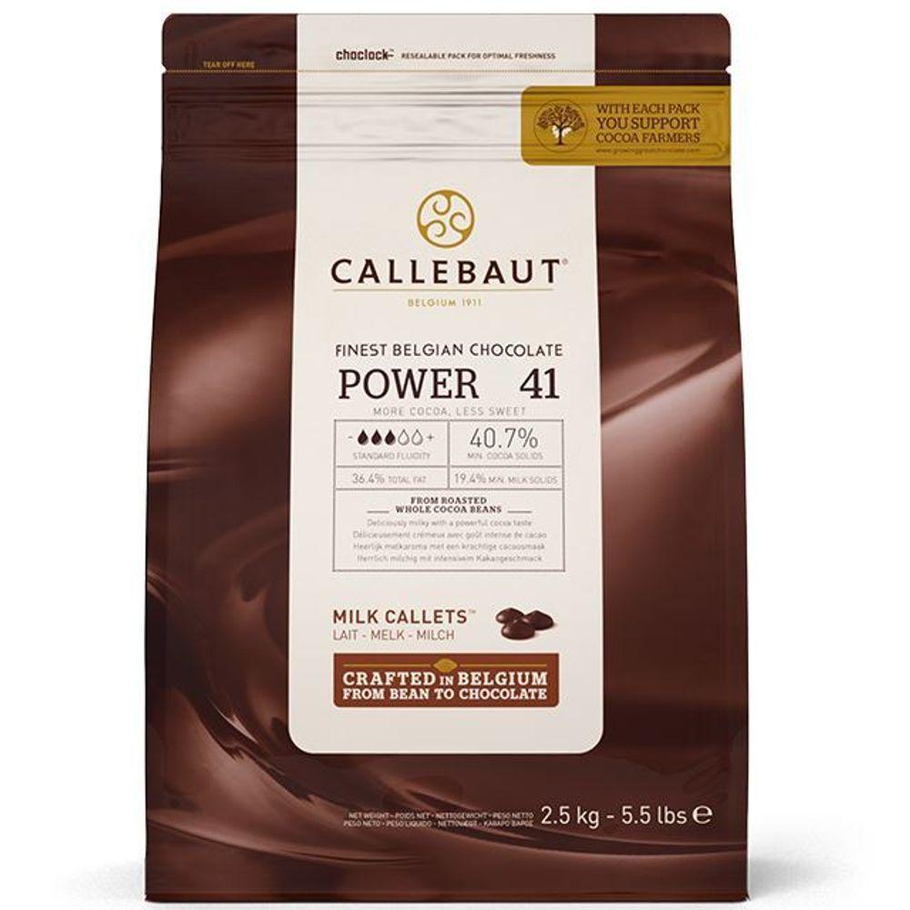 Chocolate ao leite Callebaut Moedas 40,7% POWER 41 2,5kg