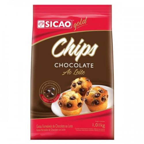 Chocolate ao leite Gotas forneáveis Chips 1,01kg Sicao