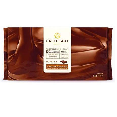 Chocolate ao leite sem açúcar ( 33,9% de cacau ) malchoc Callebaut barra 5KG