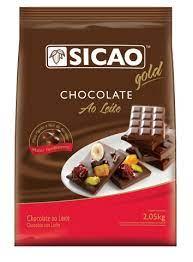 Chocolate ao leite Sicao Facil Derretimento 2,05KG