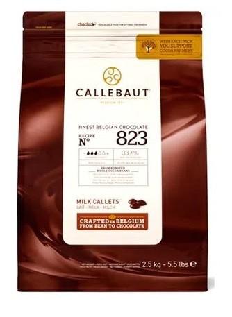Chocolate Belga Callets ao leite 823 (33,6% Cacau)  2,01kg  Callebaut