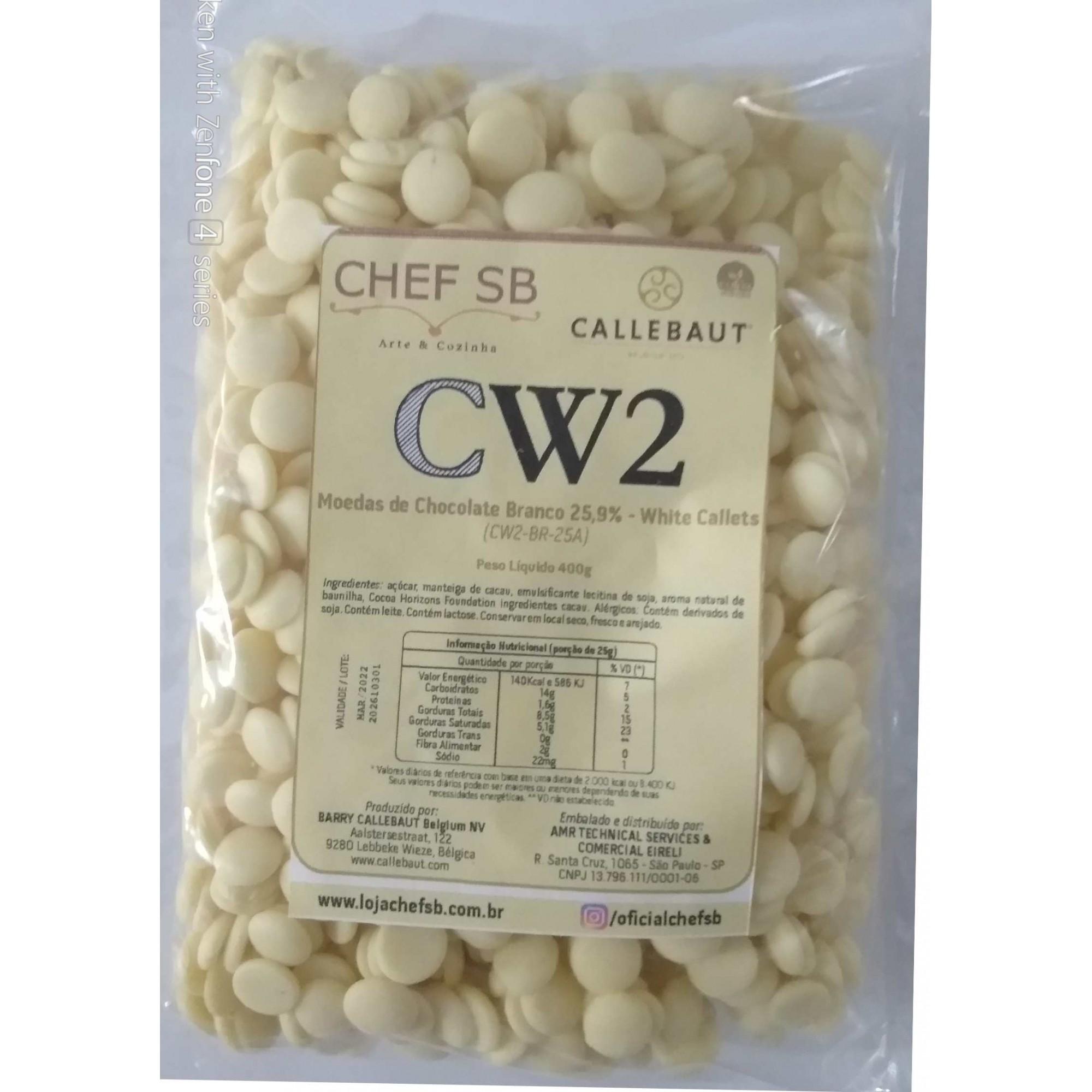 Chocolate branco CW2 Callebaut 25,9% Moedas a granel 500g