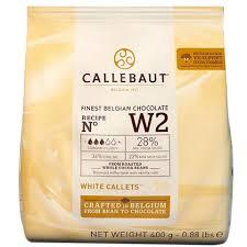 Chocolate branco Callebaut Moedas W2 28% 400g