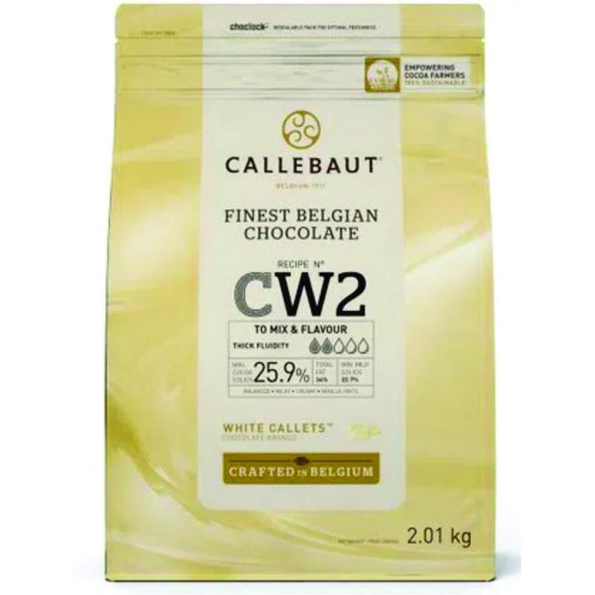 Chocolate branco CW2 25,9% Callebaut Moedas  2,01kg