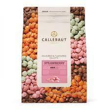 Chocolate em callets branco sabor morango Callebaut 2,5 KG