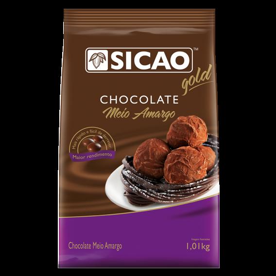Chocolate meio amargo Sicao fácil derretimento 1,01KG