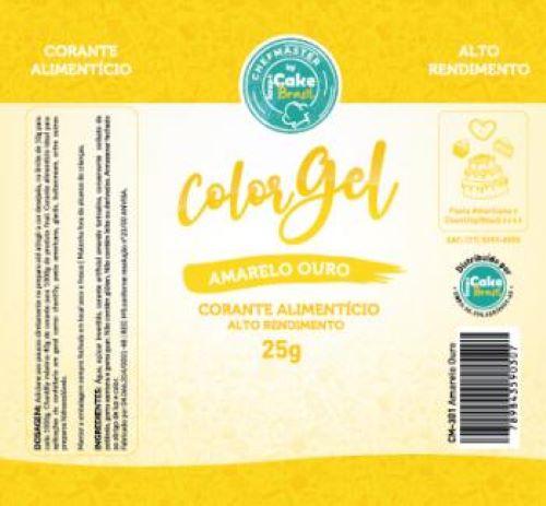 CM-301 / Corante: Color Gel 25g - Amarelo Ouro