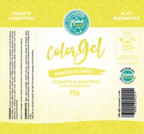 CM-302 / Corante: Color Gel 25g - Amarelo Limao