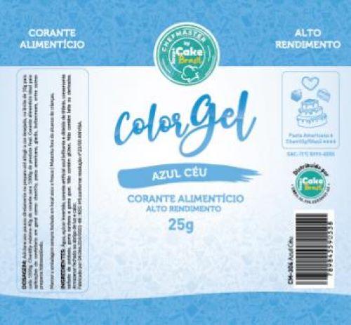 CM-304 / Corante: Color Gel 25g - Azul Ceu