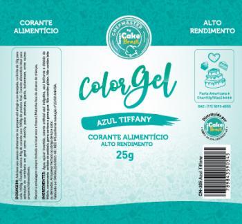 CM-305 / Corante: Color Gel 25g - Azul Tifany