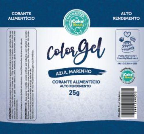 CM-306 / Corante: Color Gel 25g - Azul Marinho