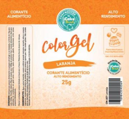 CM-307 / Corante: Color Gel 25g - Laranja