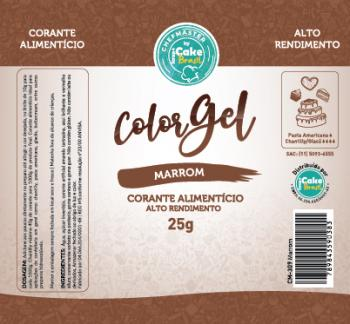 CM-309 / Corante: Color Gel 25g - Marrom