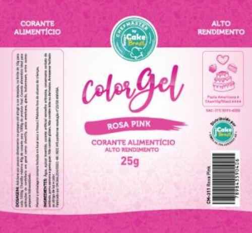 CM-311 / Corante: Color Gel 25g - Rosa Pink