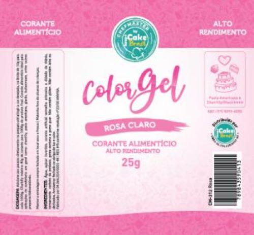 CM-312 / Corante: Color Gel 25g - Rosa Claro